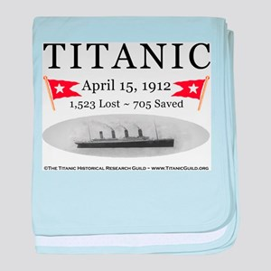 Titanic Ghost Ship (white) baby blanket