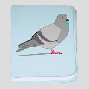 Cartoon Pigeon baby blanket