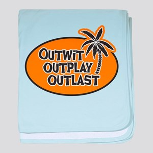 Outwit Outplay Outlast baby blanket