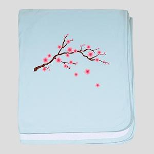 Cherry Blossom Flowers Branch baby blanket