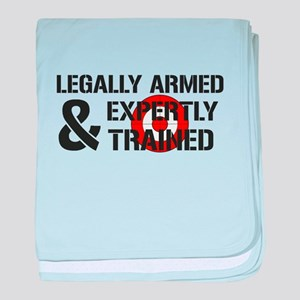 Legally Armed Expertly Trained baby blanket