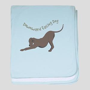 Downward Dog baby blanket