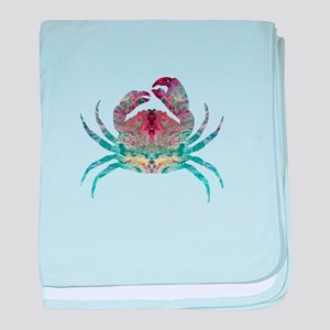 Colorful Crab baby blanket