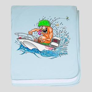 Whaler - Rat Fink Style baby blanket