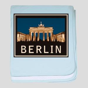 Berlin Brandenburg Gate baby blanket