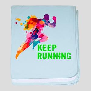 Keep Running baby blanket