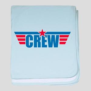 Aviation Crew Wings baby blanket