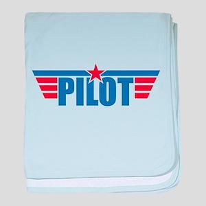 Pilot Aviation Wings baby blanket