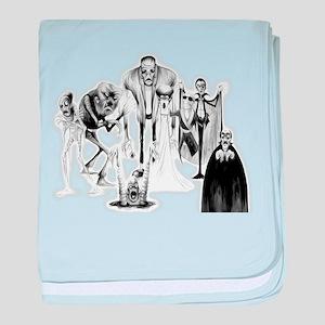 Classic movie monsters baby blanket