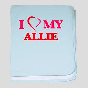 I love my Allie baby blanket