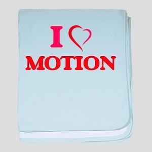 I Love Motion baby blanket