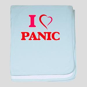 I Love Panic baby blanket