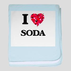 I love Soda baby blanket