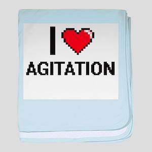 I Love Agitation Digitial Design baby blanket