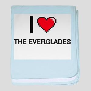 I love The Everglades digital design baby blanket