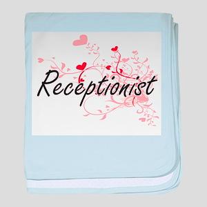 Receptionist Artistic Job Design with baby blanket