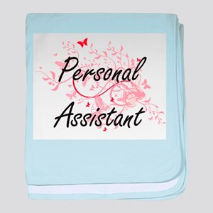 Personal Assistant Artistic Job Desig baby blanket