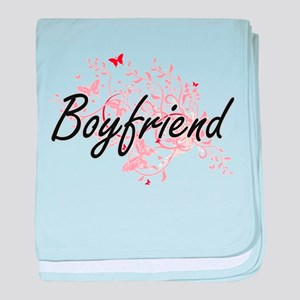 Boyfriend Artistic Design with Butter baby blanket
