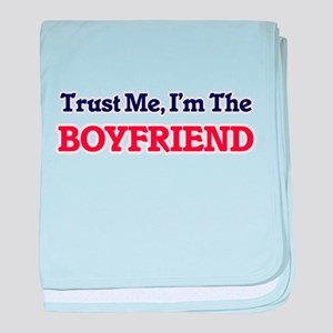 Trust Me, I'm the Boyfriend baby blanket