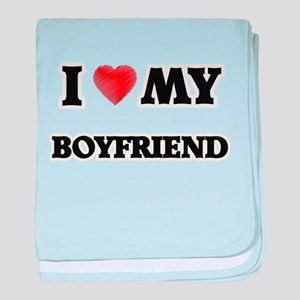 I Love My Boyfriend baby blanket