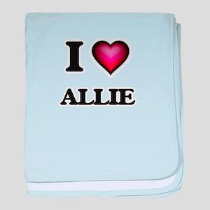 I Love Allie baby blanket