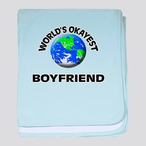 World's Okayest Boyfriend baby blanket