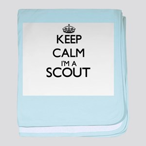 Keep calm I'm a Scout baby blanket