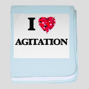 I Love Agitation baby blanket