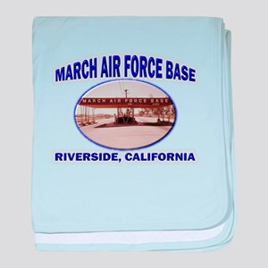 March Air Force Base baby blanket