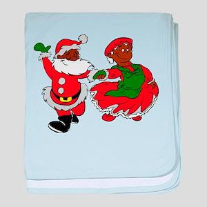 black santa mrs claus baby blanket