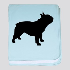 French Bulldog baby blanket