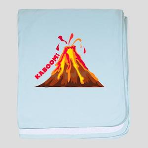Volcano Kaboom baby blanket