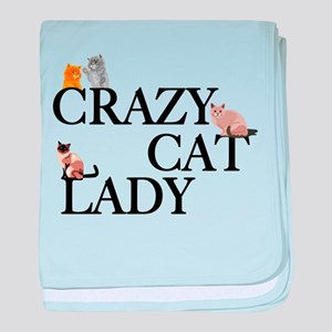 Crazy Cat Lady baby blanket