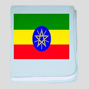 Flag of Ethiopia baby blanket