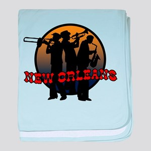 New Orleans Jazz Players baby blanket