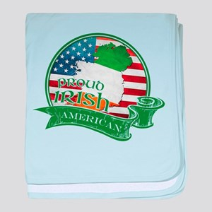 Proud Irish American baby blanket