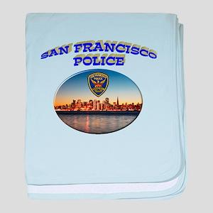 SFPD Skyline baby blanket