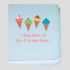 Ice Cream Time baby blanket