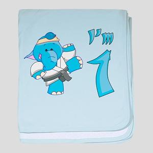 Elephant Karate First Birthda Infant Blanket