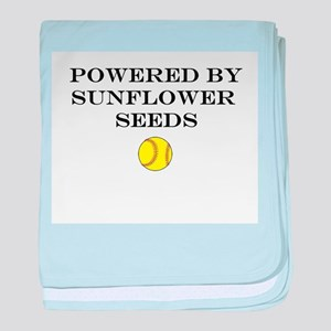 Powered By Sunflower Seeds baby blanket