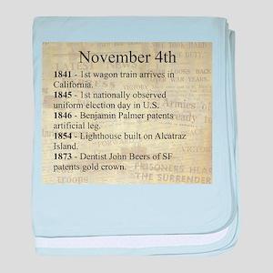 November 4th baby blanket