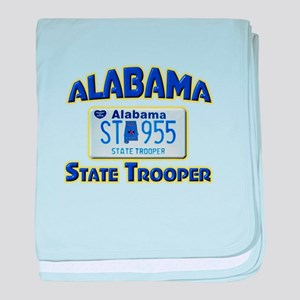 Alabama State Trooper baby blanket
