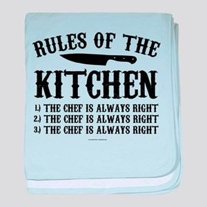 Rules of the Kitchen baby blanket