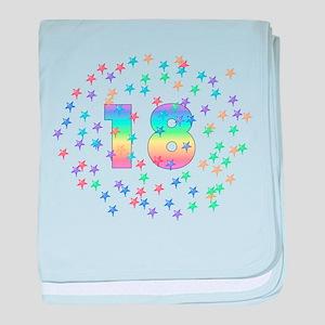 18th Birthday Pastel Stars Infant Blanket