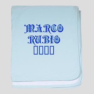 Marco Rubio 2016-Pre blue 550 baby blanket
