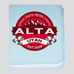 Alta Red baby blanket