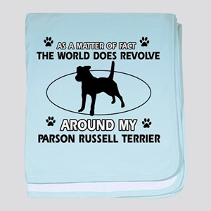 Parson Russell Terrier dog funny designs baby blan
