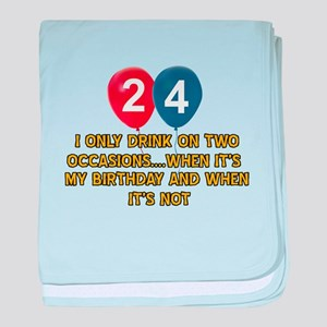 24 year old birthday designs baby blanket