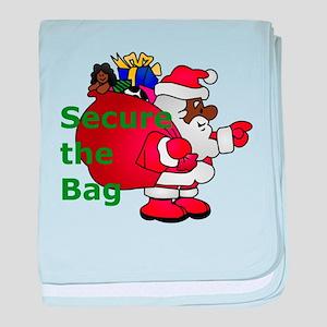 secure the bag santa baby blanket