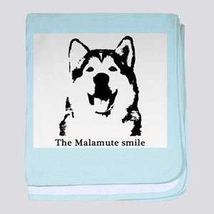 The Malamute Smile baby blanket